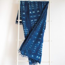 Indigo cotton Throw