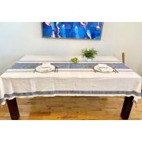 Grande nappe de Table Gondara - bleu