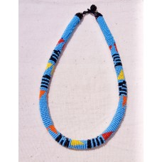 Collier Samankha - bleu