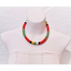 Collier Samankha - rouge
