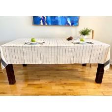Nappe de table Axum noire + 6 serviettes de table