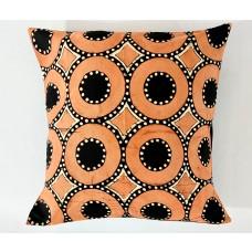 Housse de coussin - batik cercle