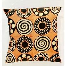 Housse de coussin - batik spirale