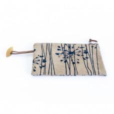 Pochette de voyage fleur d'acacia - bleu marine