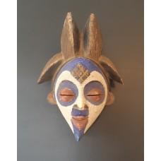 Masque Punu bleu - 2 coiffes