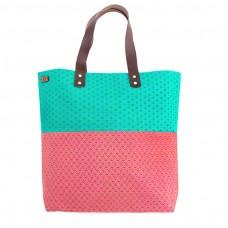 Sharp shopping bag - rose / turquoise