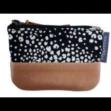 Small zip purse - fineprint