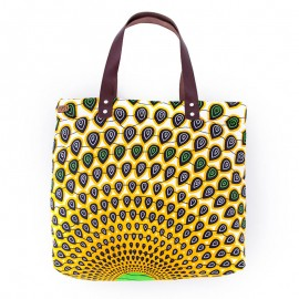 Sharp shopping bag - wax jaune